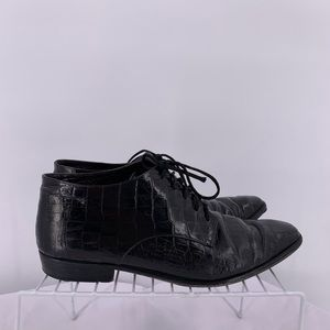 Phyllis Poland Black Leather  Women Shoes Size 9
